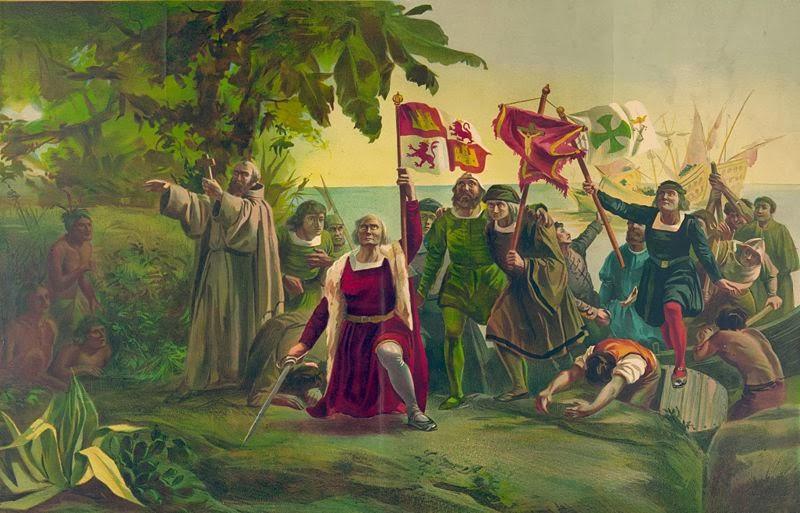 Llegada de Cristóbal Colon a Venezuela.