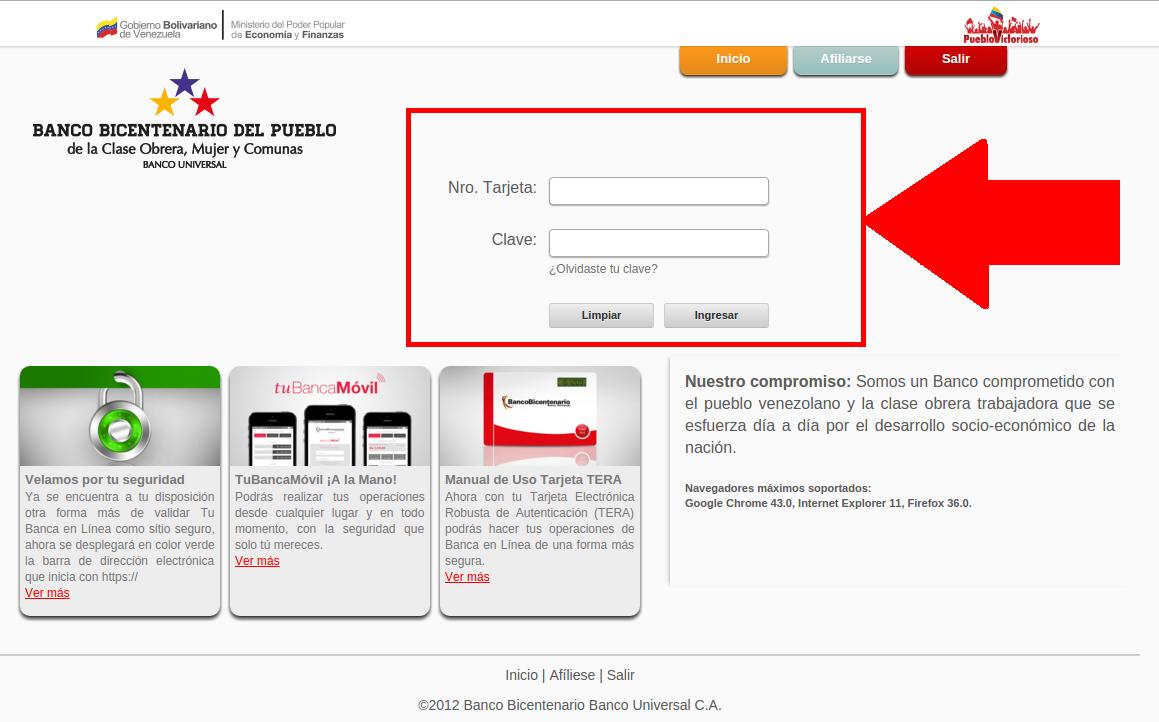 Tarjeta de alimentacion banco venezuela consulta saldo for Banco de venezuela consulta de saldo