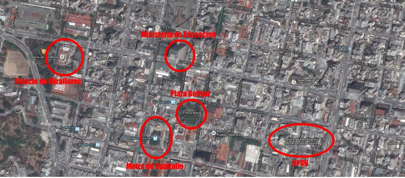 Mapa de Referencia del Palacio de Miraflores