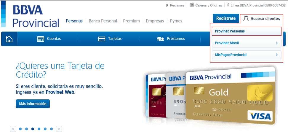 Página Principal Banco Provincial 2