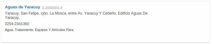 Contacto Aguas de Yaracuy