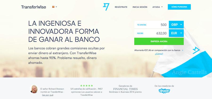 Transferir dinero con Transferwise