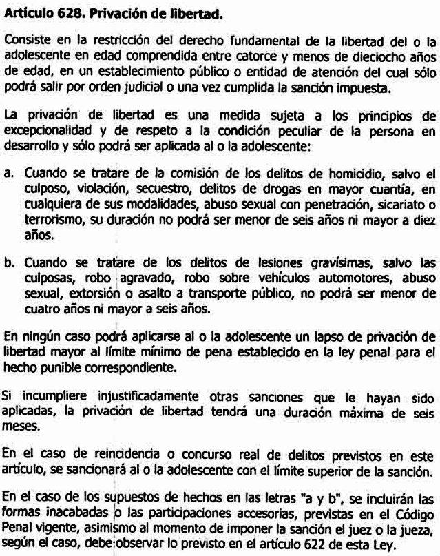 Reforma de la Lopnna - Art 628