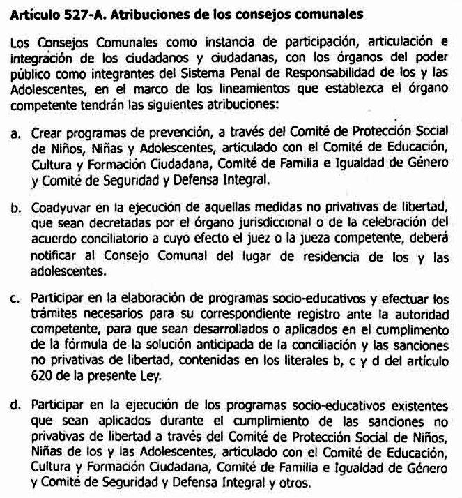Reforma LOPNNA Articulo 527-A