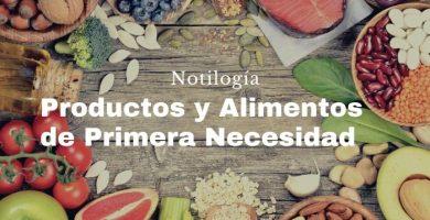 Productos y Alimentos de primera necesidad