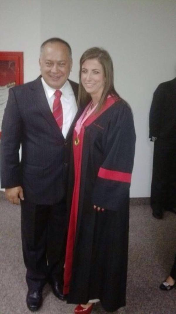 Susana Barreiros y Diosdado Cabello
