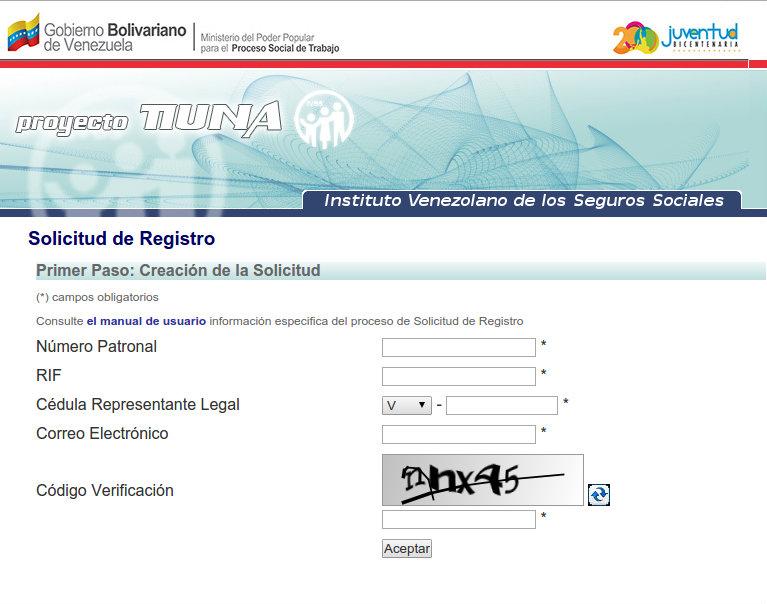 Solicitud de Registro IVSS