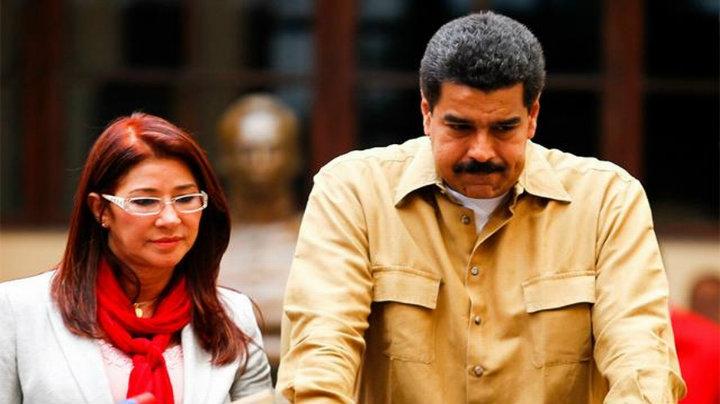 Nicolas Maduro y Cilia Flores