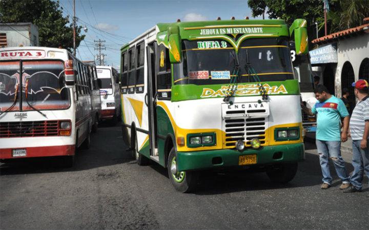 Precio del pasaje suburbano en Guárico