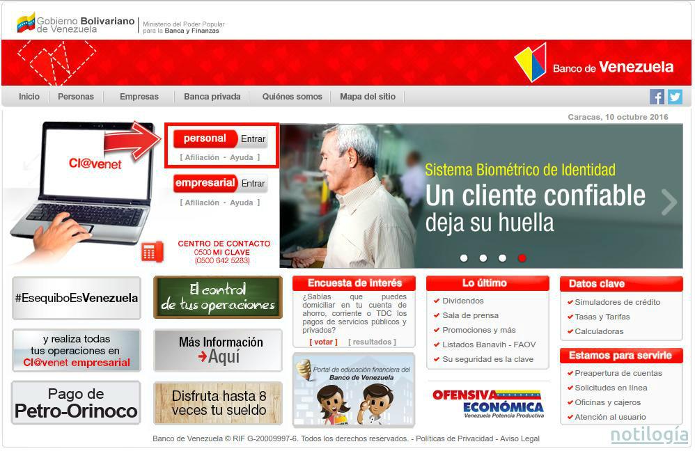 credinomina del banco de venezuela en linea On banco venezuela en linea