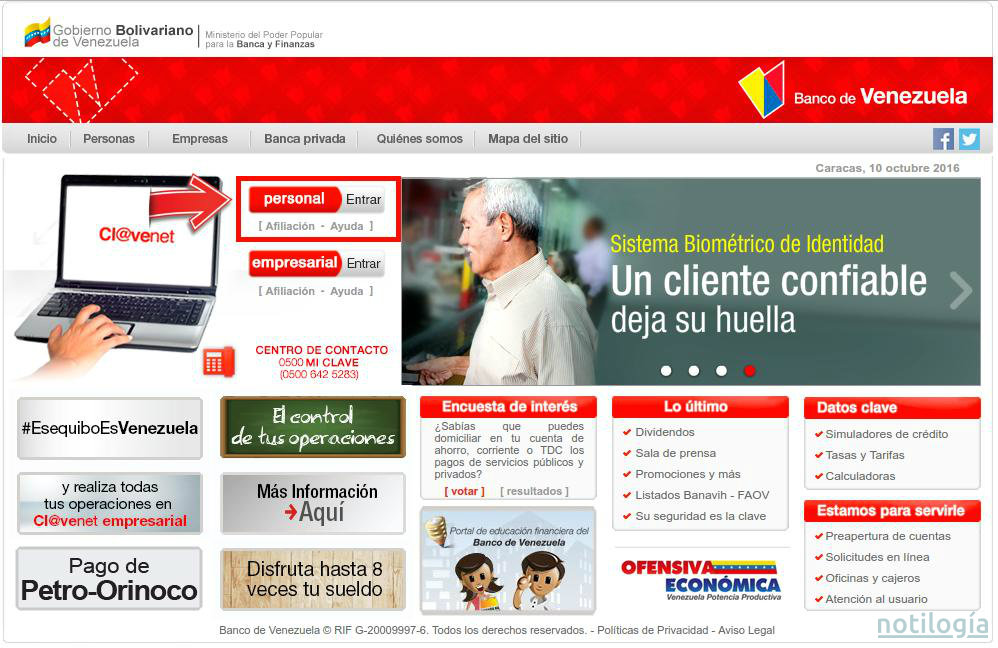 Creditos santander rio home for Banco de venezuela consulta de saldo