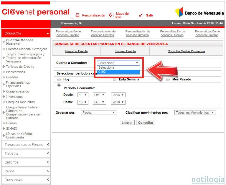 consulta del saldo de cuenta en el banco de venezuela On banco de venezuela consulta de saldo cuenta corriente