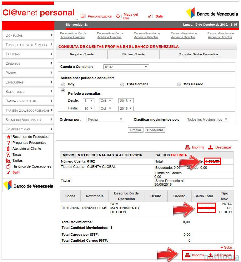 c mo consultar saldo en l nea del banco de venezuela On banco venezuela en linea