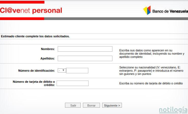 C Mo Afiliarse A Clavenet Del Banco De Venezuela: banco venezuela clavenet
