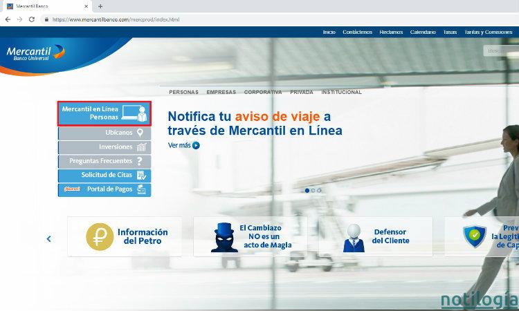 Mercantil en Linea Paso 1