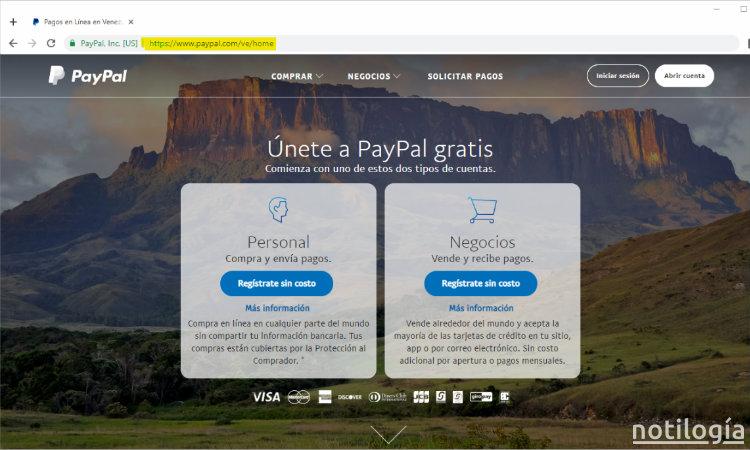 Paypal Paso 1