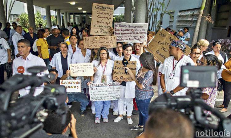 Protestas de Enfermeras