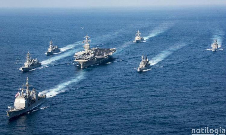 Flota naval de Estados Unidos se mueve a Venezuela