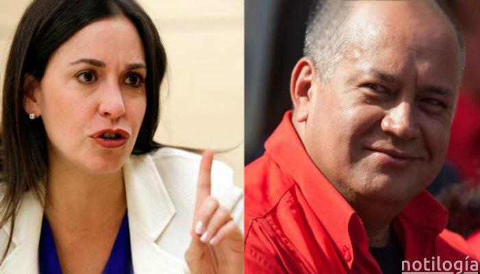 Maria Corina Machado y Diosdado Cabello