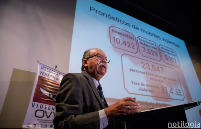 OVV registra aumento en tasa de homicidios