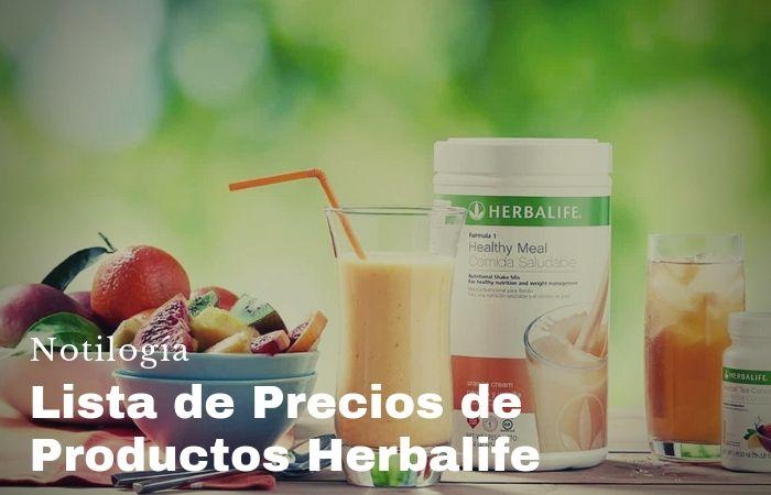 Lista de precios de productos Herbalife