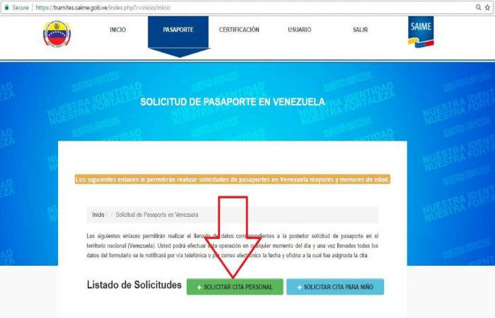 Solicitud de pasaporte en venezuela