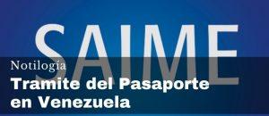 Tramite del Pasaporte en Venezuela