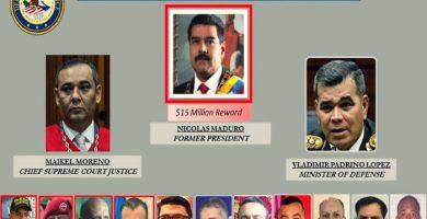 EEUU acusa a Maduro de narcoterrorismo y ofrece recompensa por su captura